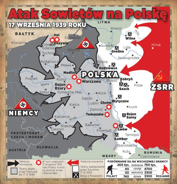 Znalezione obrazy dla zapytania Obrazy napaść zsrr na polskę