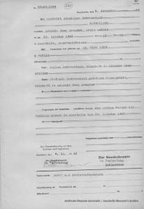Obozowy akt zgonu Stanisława Dobrowolskiego