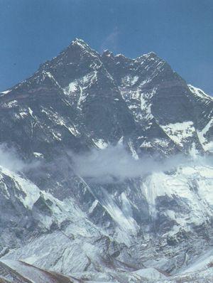 Południowa ściana Lhotse - miejsce śmierci Kukuczki