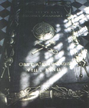 Płyta nagrobna Jana Zamoyskiego